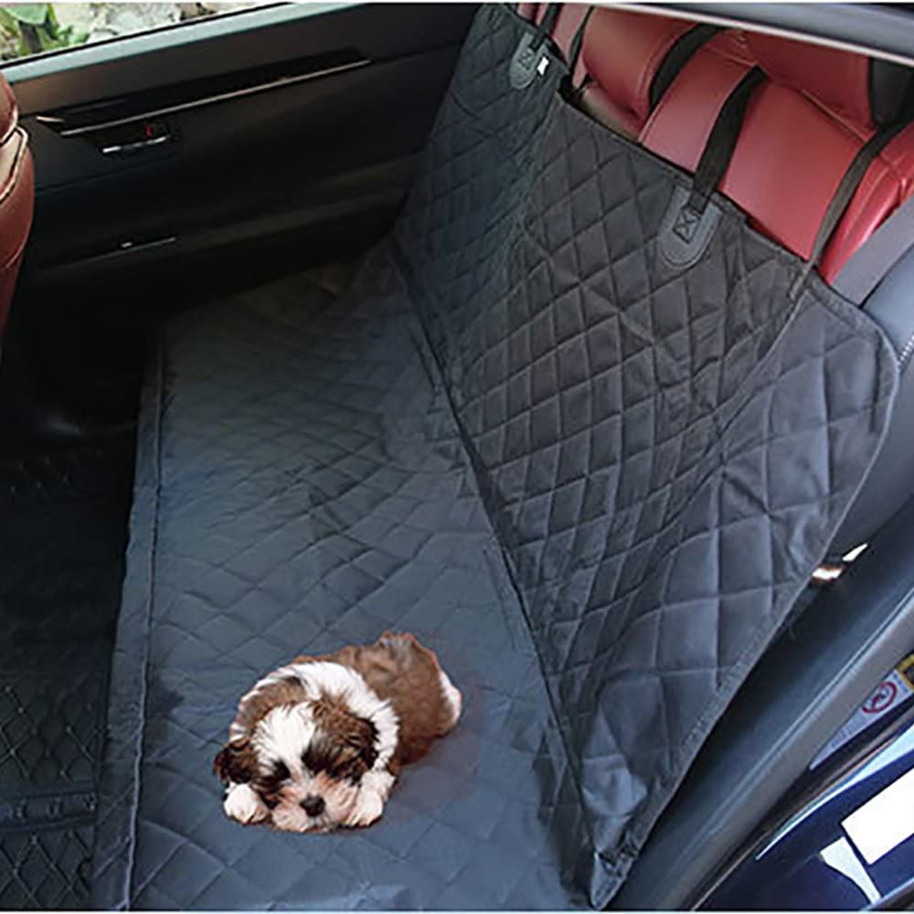 Systond Dog Funda de Asiento de Coche Impermeable Pet Seat Case Carrier No Slip Dog Travel Hamaca con Correa Ajustable y Mango de Seguridad para Perros Pets Cars Camiones SUV Boosterseat04