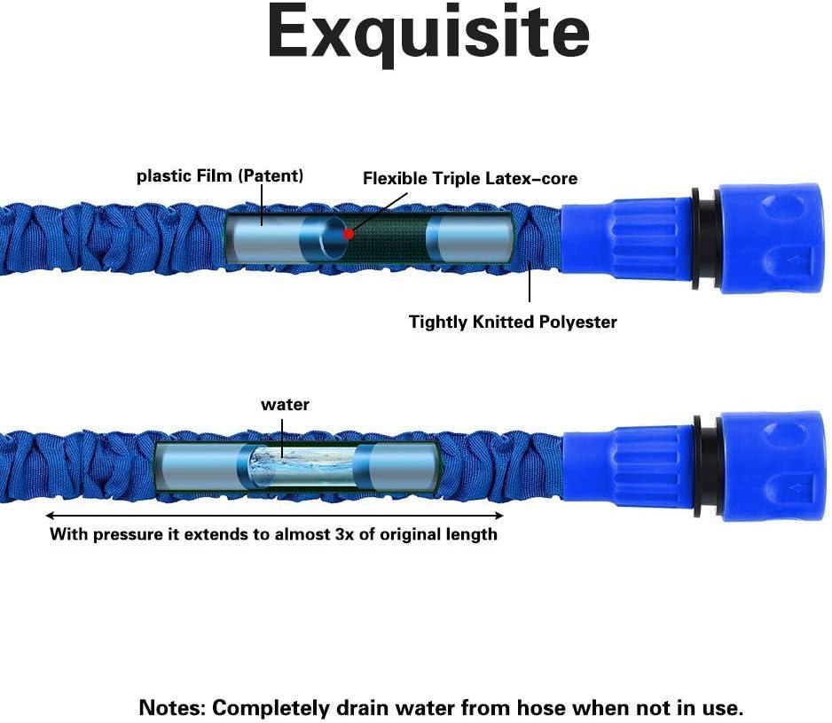 Tuyau darrosage flexible FEALING Tuyau darrosage extensible avec 8 fonctions 3 100 FT 30 m Flexible Wonder Flexi Wonder Flexi darrosage Tuyau darrosage flexible