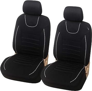 Esituro Scsc017239 Autositzbezüge Einzelsitzbezug Universal Sitzbezüge Für Auto Schonbezug Schoner Dicke Gepolstert Schwarz Auto