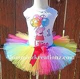 Peppa Pig Tutu, Peppa Pig Rainbow tuut Outfit,Peppa Pig Birthday