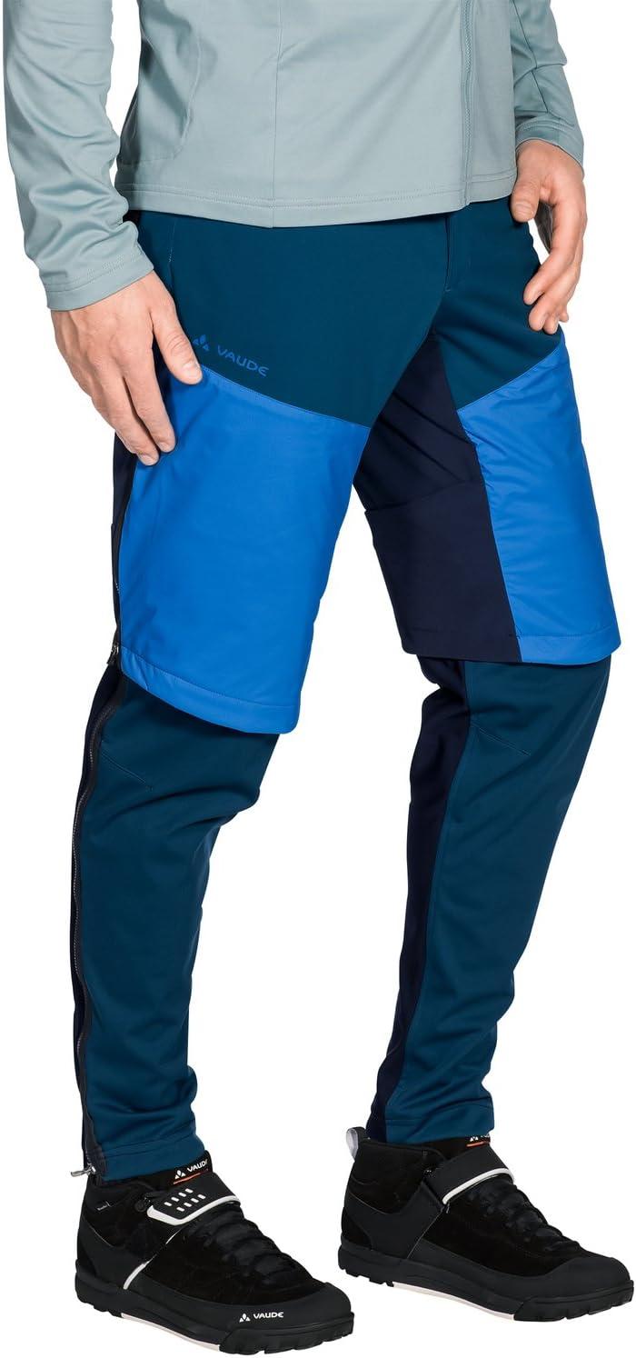 VAUDE Moab zo Pants L Pantalon de v/élo Homme ME All Year Radiate Blue