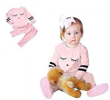 2d422510af686 かわいい 漫画の表情 2点セット(上着+パンツ) ベビー服 女の子 赤ちゃん
