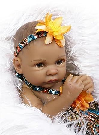 Amazon.es: Muñeca recién nacido, Willdo Black Alive 100% hecho a ...