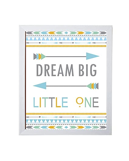 Dream big little one with white frame: Amazon.in: Home & Kitchen