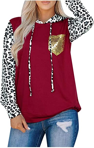 jin&Co Womens Fall Color Block Long Sleeve Tunic Tops Loose Pullover T Shirts Casual Crew Neck Blouses