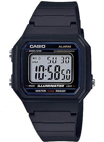 f7b5e7438a90 Casio Reloj Digital para Hombre de Cuarzo con Correa en Resina W-217H-1AVEF   Amazon.es  Relojes