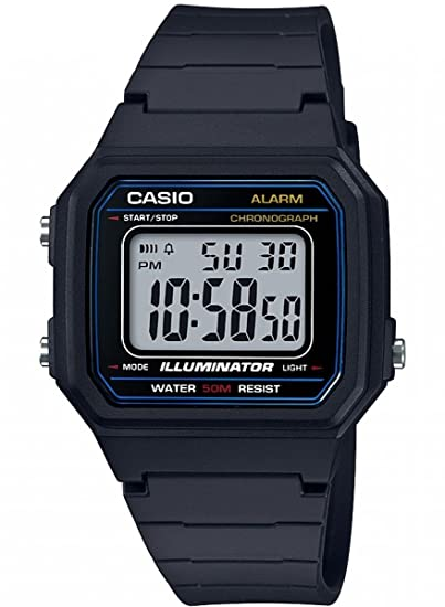 Casio Reloj Digital para Hombre de Cuarzo con Correa en Resina W-217H-1AVEF: Amazon.es: Relojes