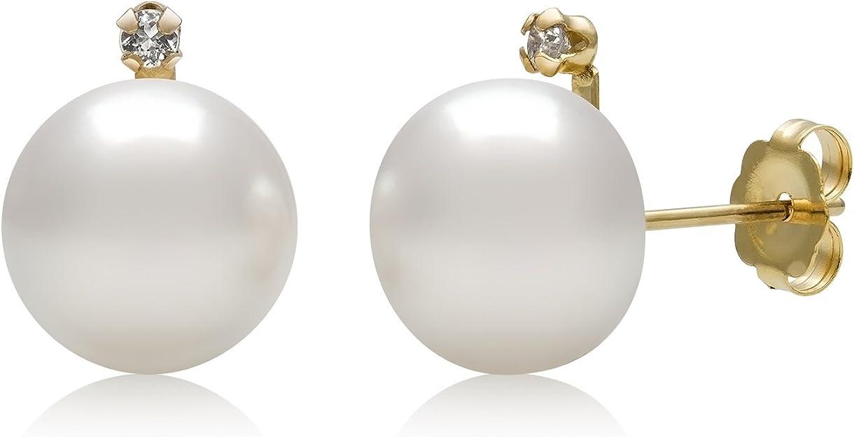 Jo For Girls Silver Freshwater Pearl White Stud Earrings