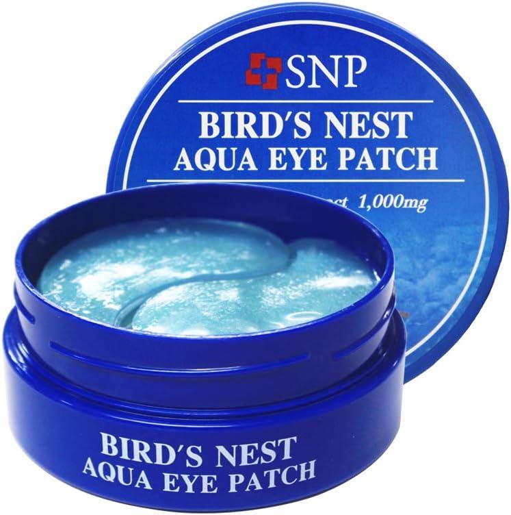 SNP Shining Nature Purity Parche de ojo negro de perla para renovar y vitalizar y aclarar la piel Pack de 60 Aqua nido de pájaro Nido de pájaro aqua fresca