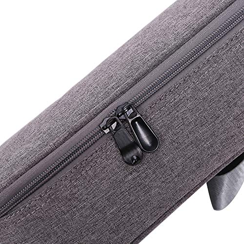 HKF 23 Inches Ukulele Case for Concert Ukulele Adjustable Grey Linen Uke Backpack Case