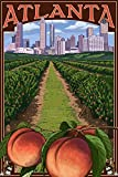 Atlanta, Georgia - Peaches (9x12 Art Print, Wall Decor Travel Poster)