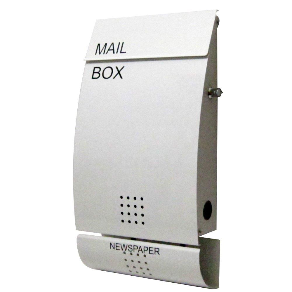 EUROデザイナーズポスト MB4502 レバータイプ鍵付き ホワイト 新聞受け有 MB4502-KL-white 55 B00KNI8GMI 22000 4502 扉 本体:ホワイト 4502 扉 本体:ホワイト