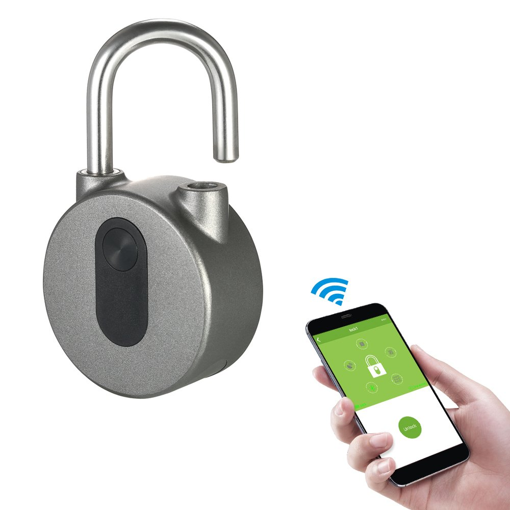 Decdeal BT Smart Keyless Lock Waterproof APP Button/Fingerprint/Password for Android iOS System