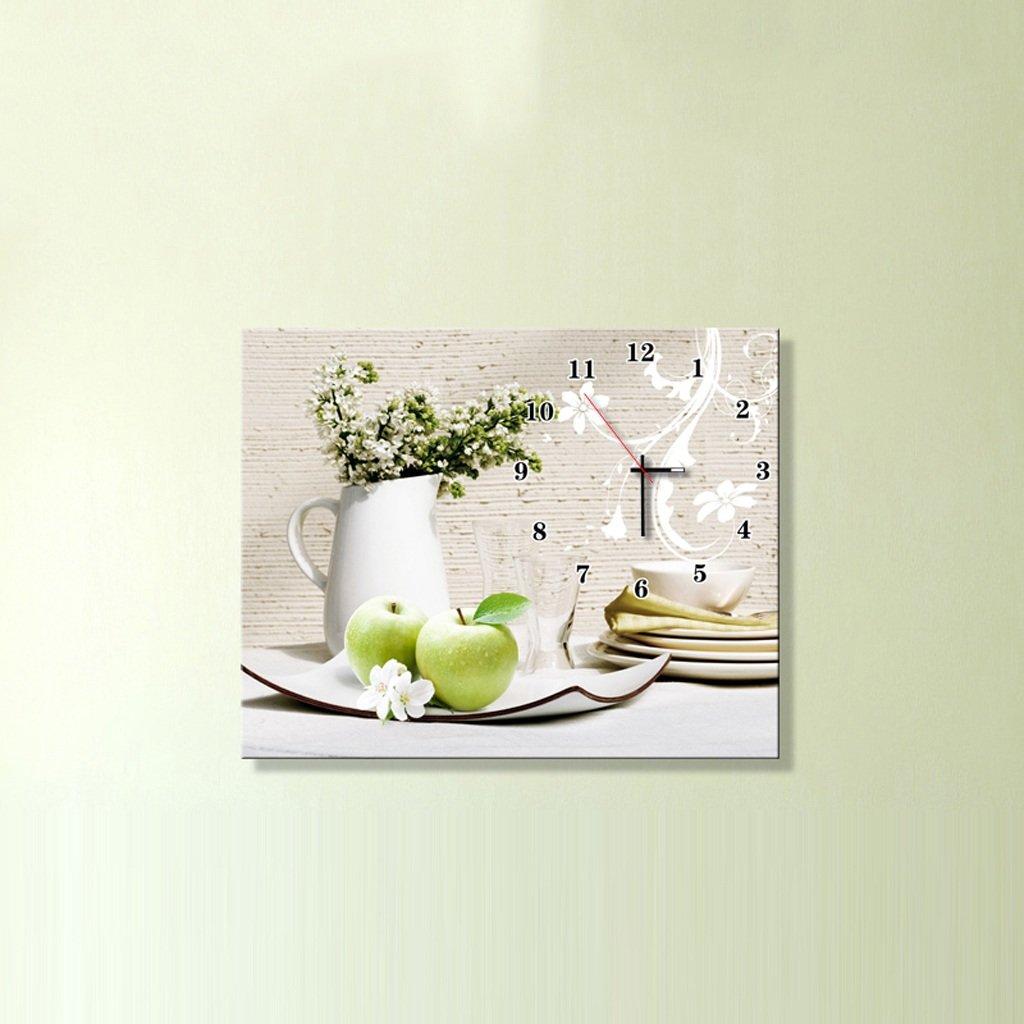 3Dアートサイレント防水絵画壁時計装飾的な背景クリエイティブアートマイクロフレームクリスタルクロックトリプルハンギング絵画の水平バージョン居間 (サイズ さいず : 50*60 cm) B07D8NRM95 50*60 cm 50*60 cm