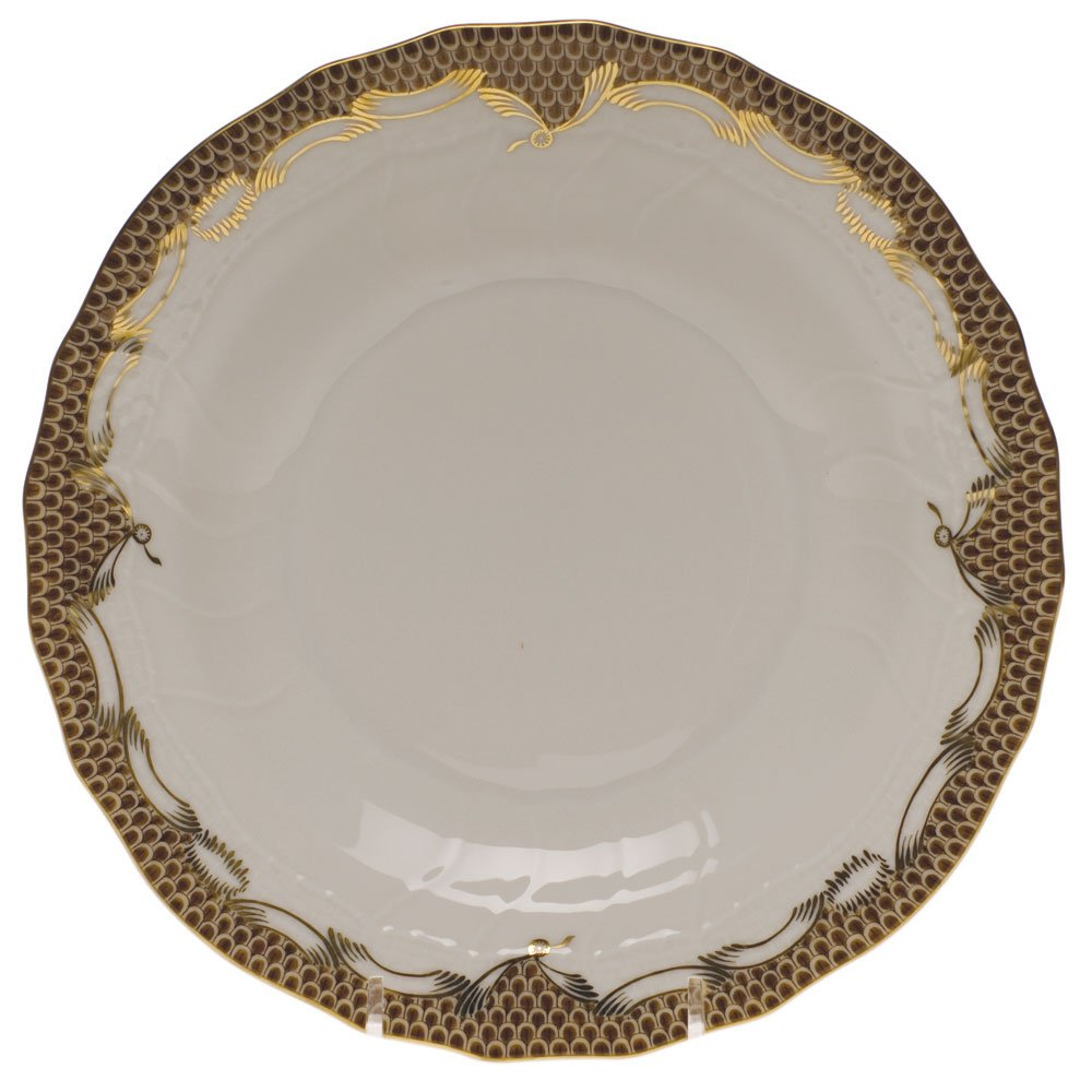 Herend China Fish Scale Brown Dessert Plate AETM2-01520-0-00