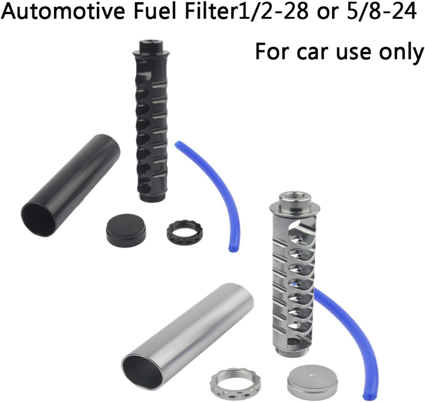 freneci Filtro carburante unipolare universale 10  spinato 1//2-28 per 4003 nero