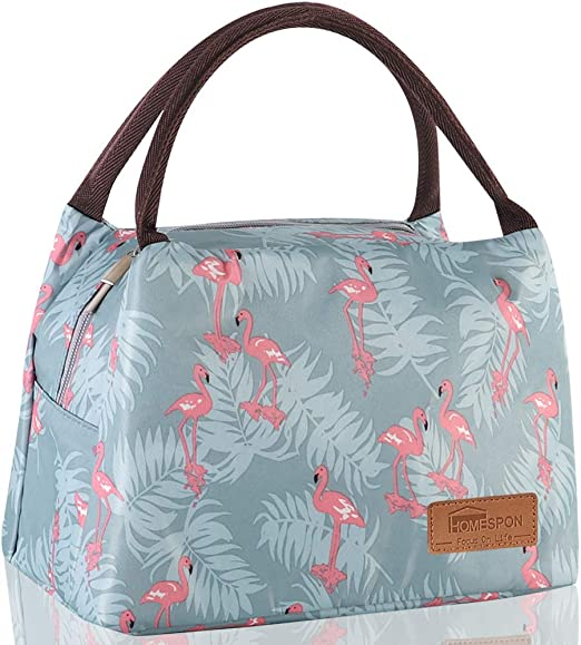 Green Flamingo, Small Lunch Bags for Women Insulated Lunch Bag Adult Lunch Bags Women Lunch Box Jeopace
