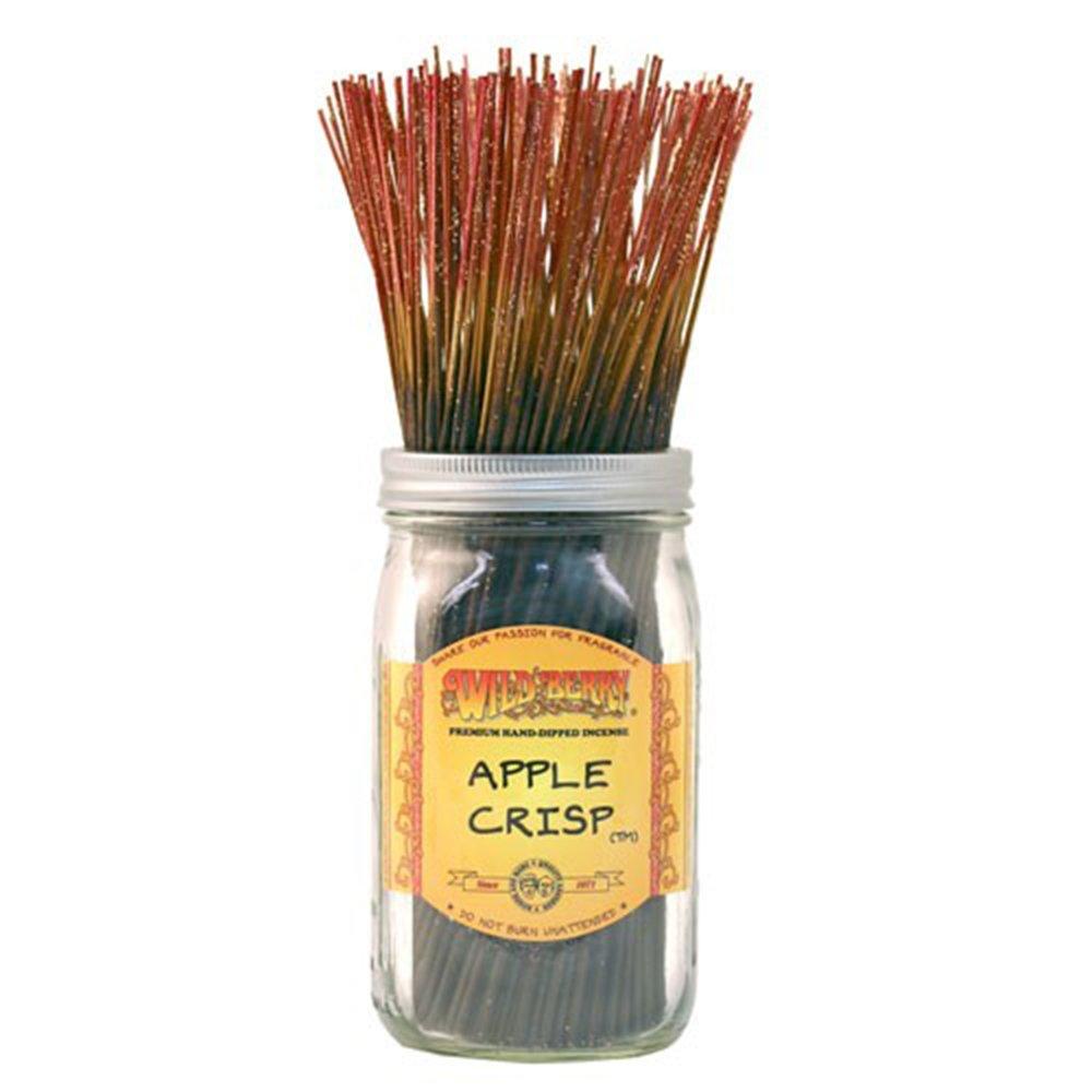 WILDBERRY Apple Crisp, Highly Fragranced Incense Sticks Bulk Pack, 100 Pieces, 11-inch