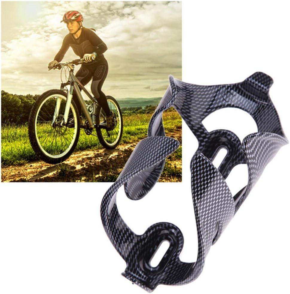 LIOOBO Portabicchieri 2 Pezzi Nero Portaborraccia in Fibra di Carbonio per Bici da Strada MTB Mountain Bike Ciclismo Nero