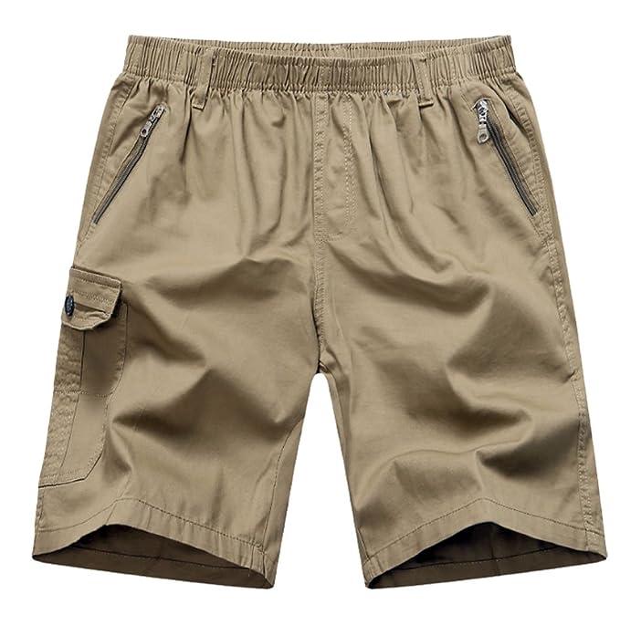 5d2d57c7b4 YangguTown YGT Men's Cotton Full Elastic Waist Sport Pants Cargo  Performance Baseline Short at Amazon Men's Clothing store: