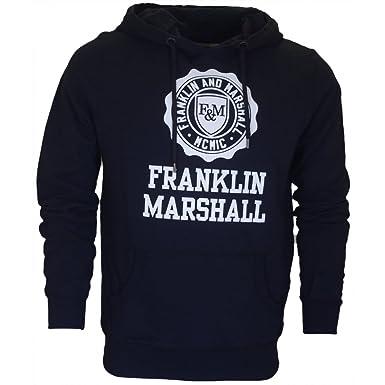 Franklin & Marshall - Sudadera con Capucha - para Hombre Negro Negro X-Large