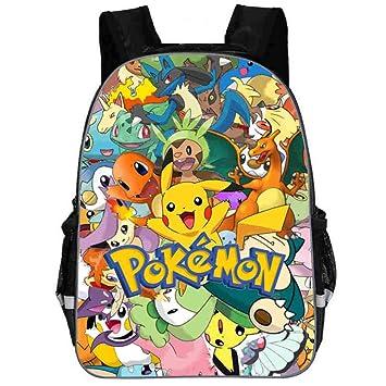 Pokemon Personalizado Mochila para Niños Casual Mochilas de Colegio Viaje Impresión Mochilas Escolares Popular Mochila para Deportes al Aire Libre: ...