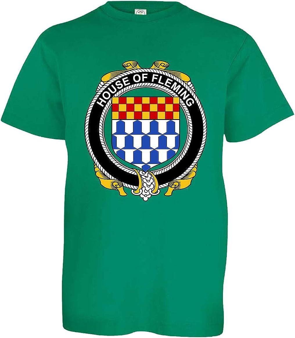 Kelly Green X-Large Tenacitee Boys Youth Irish House Heraldry Fleming T-Shirt