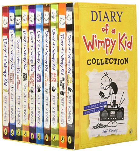 Diary of a Wimpy Kid Collection (Set of 10) by Puffin