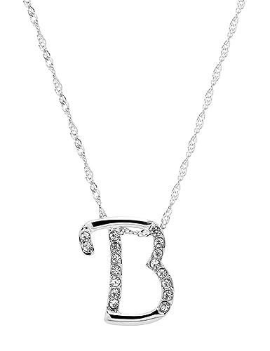 amazoncom paialco jewelry diamante initial pendant letter b necklace jewelry