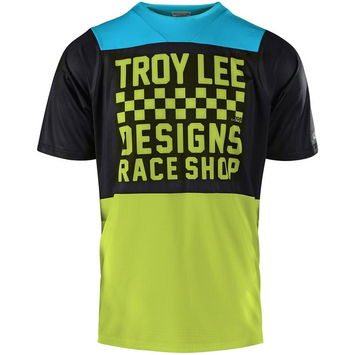 Troy Lee Designs Skyline Jersey - Boys' Checker Black/Lime, S by Troy Lee Designs