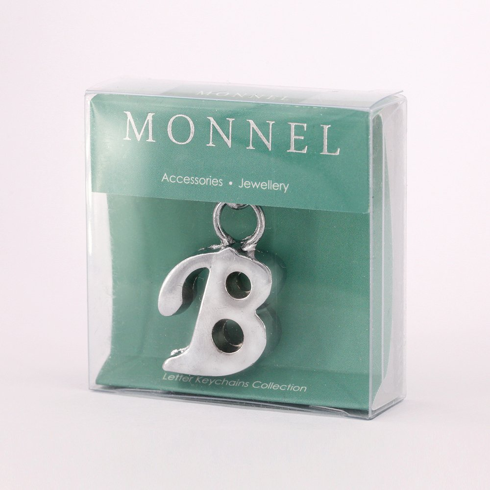 Stylish Letter B Simple Alphabet Key Ring Creative Packaging Design Box Z-322
