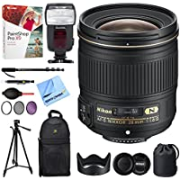 Nikon (2203) AF-S NIKKOR 28mm f/1.8G Lens + 18-180 Power Zoom Flash & Accessories Bundle