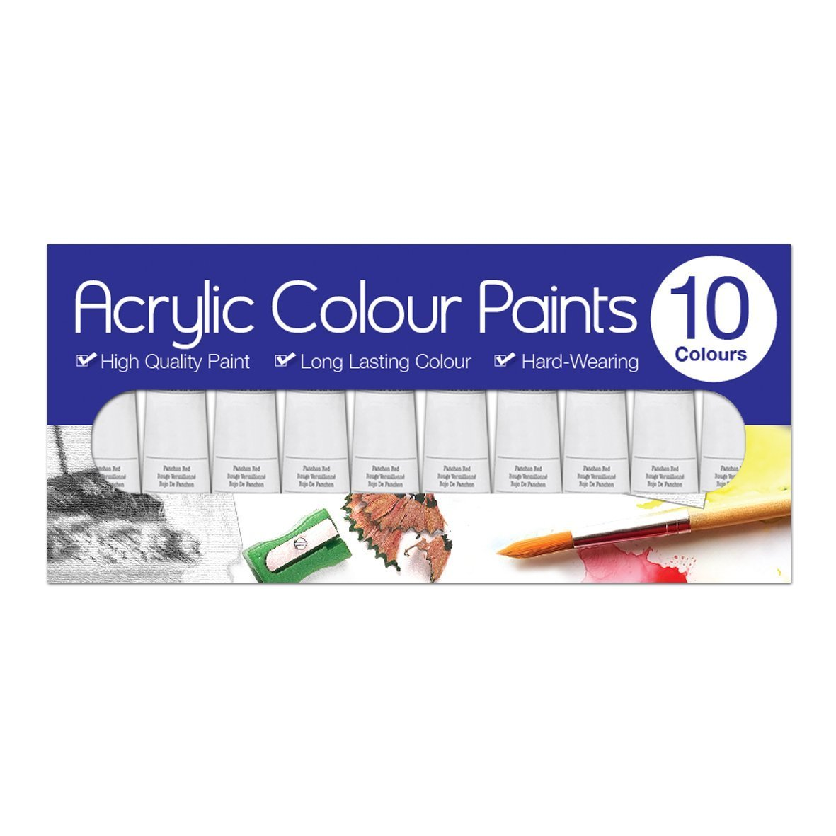Artbox 6ml Acrylic Paints Tubes (Pack of 10) Tallon International Ltd 5138