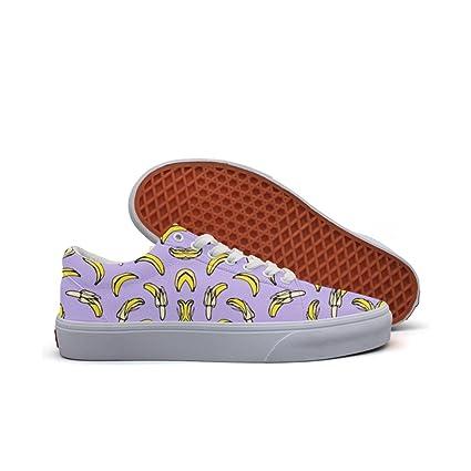 Womens Skateboarding Shoes Canvas Banana Clipart Sport Sneaker