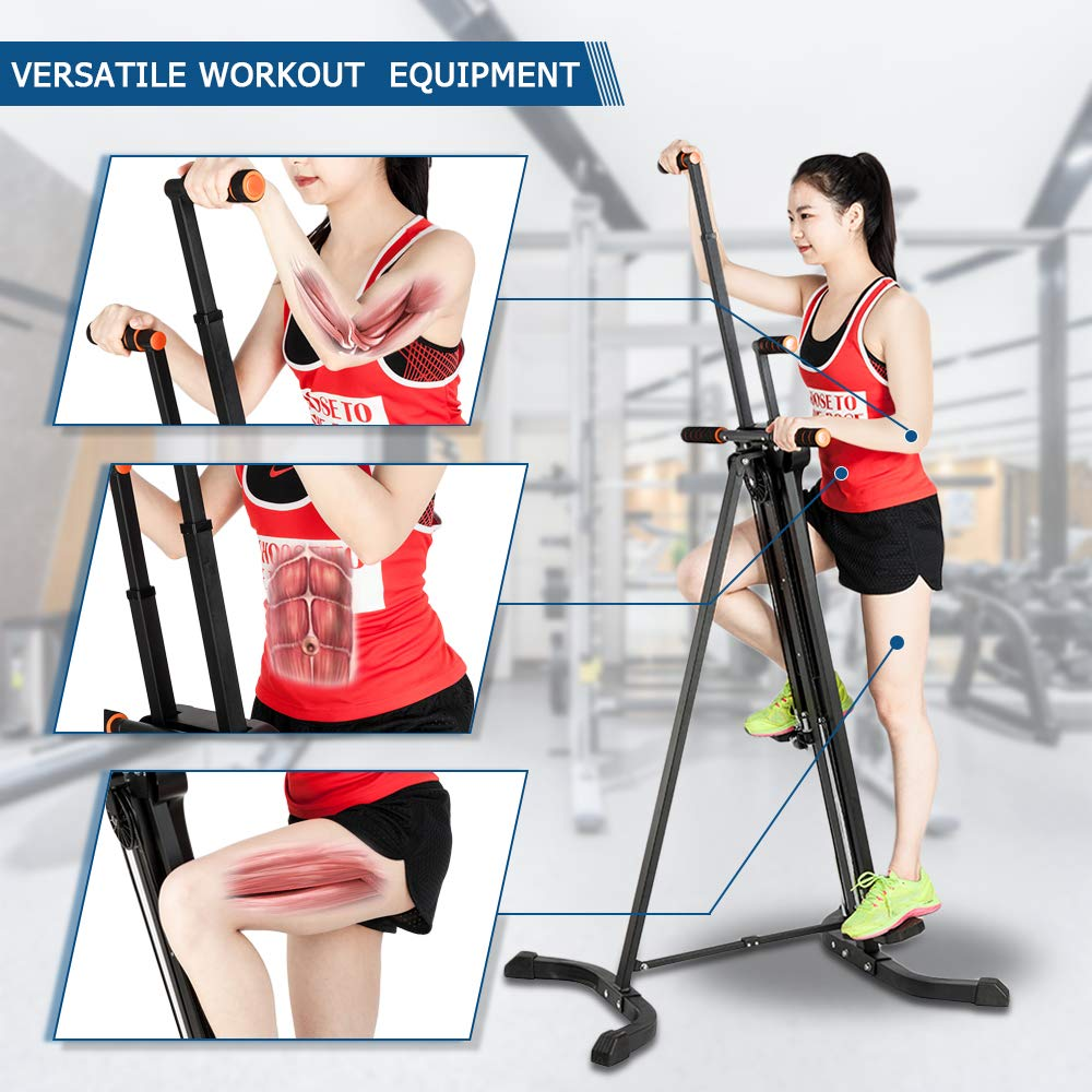 PEXMOR Upgraded Vertical Climber, Folding Climbing Machine for Home Gym Fitness, Stepper Climber Exercise Machine, Adjustable Height with LCD Display 2.0 by PEXMOR (Image #4)