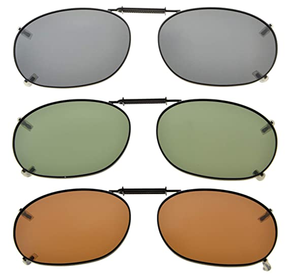 0d444f4676f1 Amazon.com  Eyekepper Grey Brown G15 Lens 3-pack Clip-on Polarized  Sunglasses 2 1 16