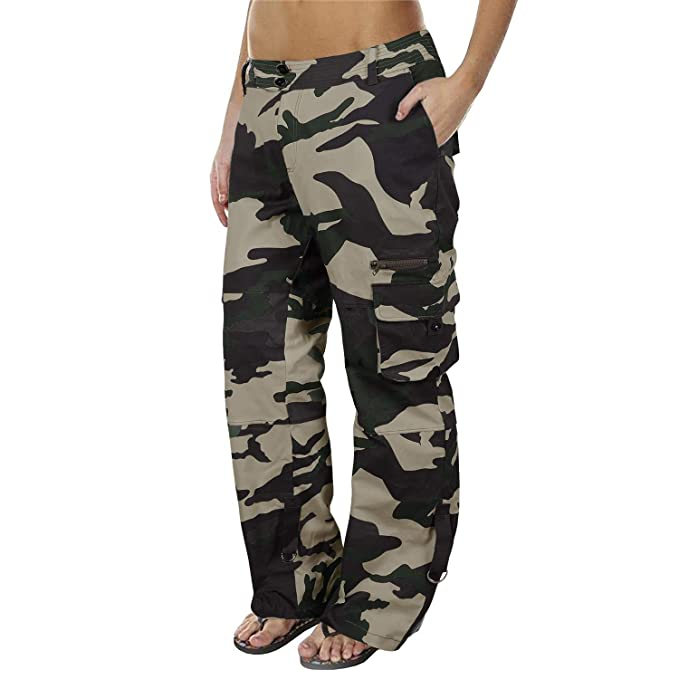 select for clearance big discount sale discount up to 60% Lynwitkui Womens Casual Cargo Joggers Pants Camo Military Army Style Mid  Waisted Work Trousers with Pockets