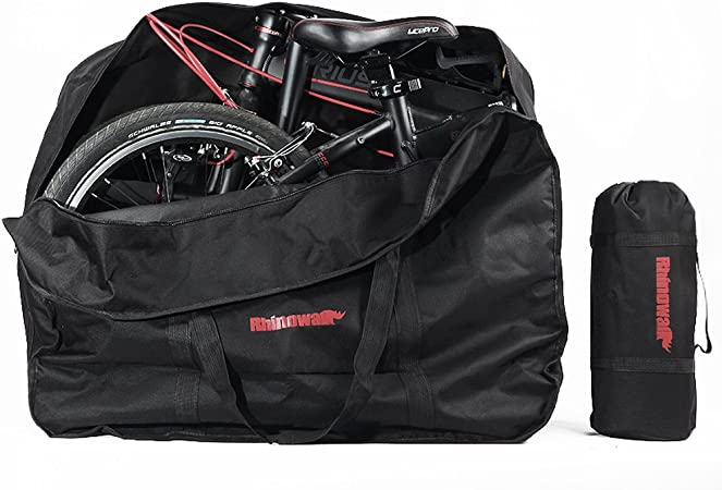 Storage Bag Included Selighting Folding Bike Travel Bag Bicycle Carrier Case Outdoors Carrying Bag for 26 inch Bike Flights Car Train Trip Black