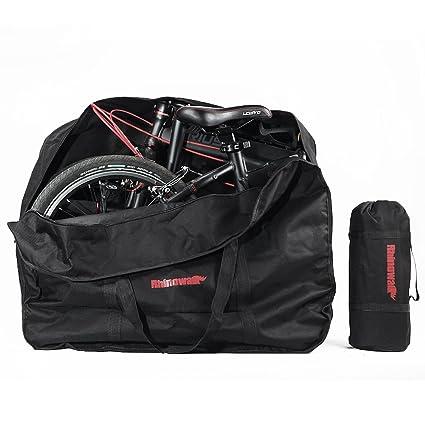 Selighting Bolsa Transporte Bicicleta Plegable, Bolsa de Almacenamiento de Bici Bolsa para el Manillar Bolso Plegable para el Envío de Viajes Aéreos, ...