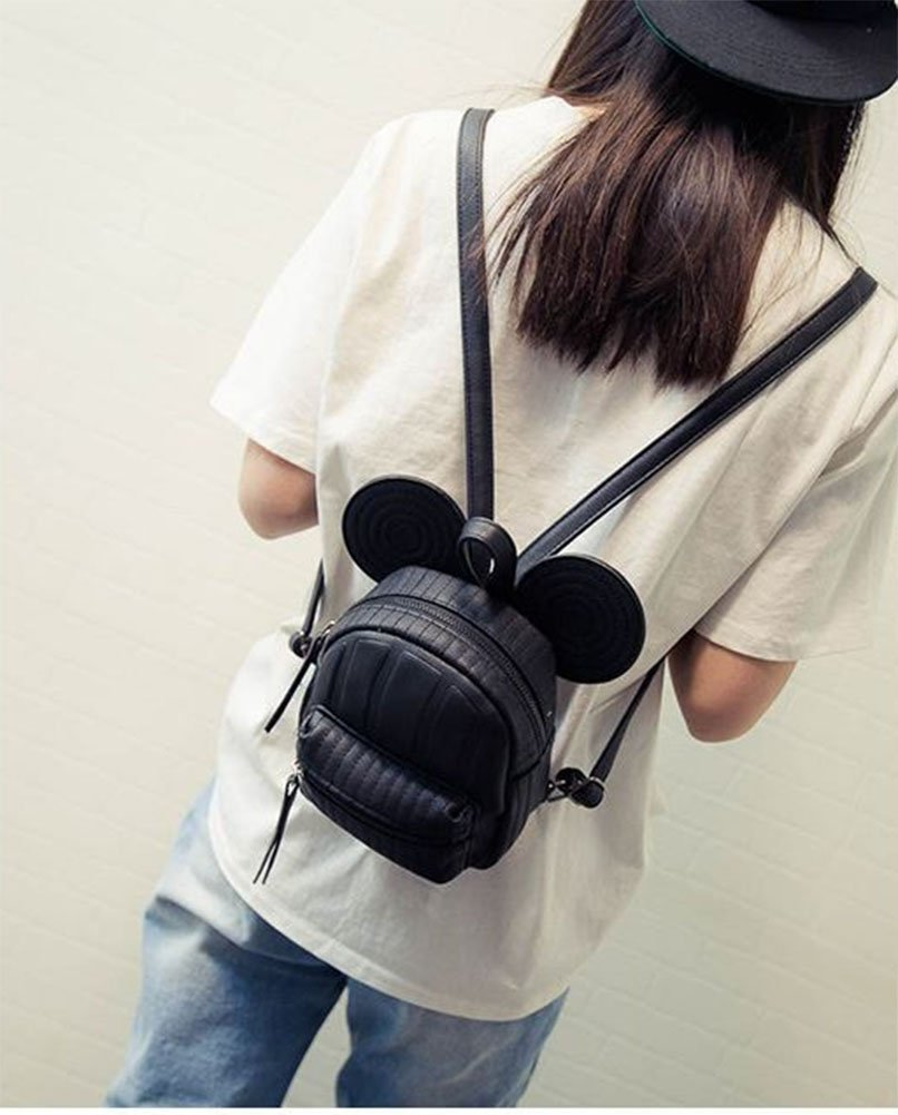 ModaKeusu Casual Purse Fashion Mikey School Leather Backpack Shoulder Bag Mini Backpack for Women & Girls by ModaKeusu (Image #5)