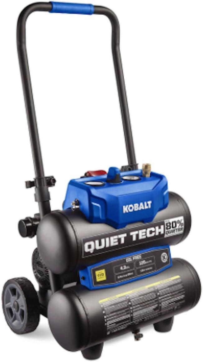 Kobalt Quiet Tech Electric Twin Stack Air Compressor