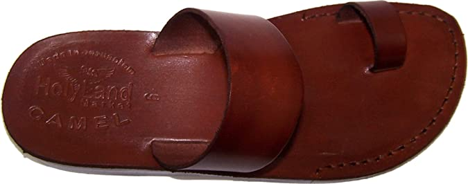 60s Shoes, Boots Holy Land Market Unisex Biblical Leather Flip Flops (Jesus - Yashua) - Finger Style $34.49 AT vintagedancer.com