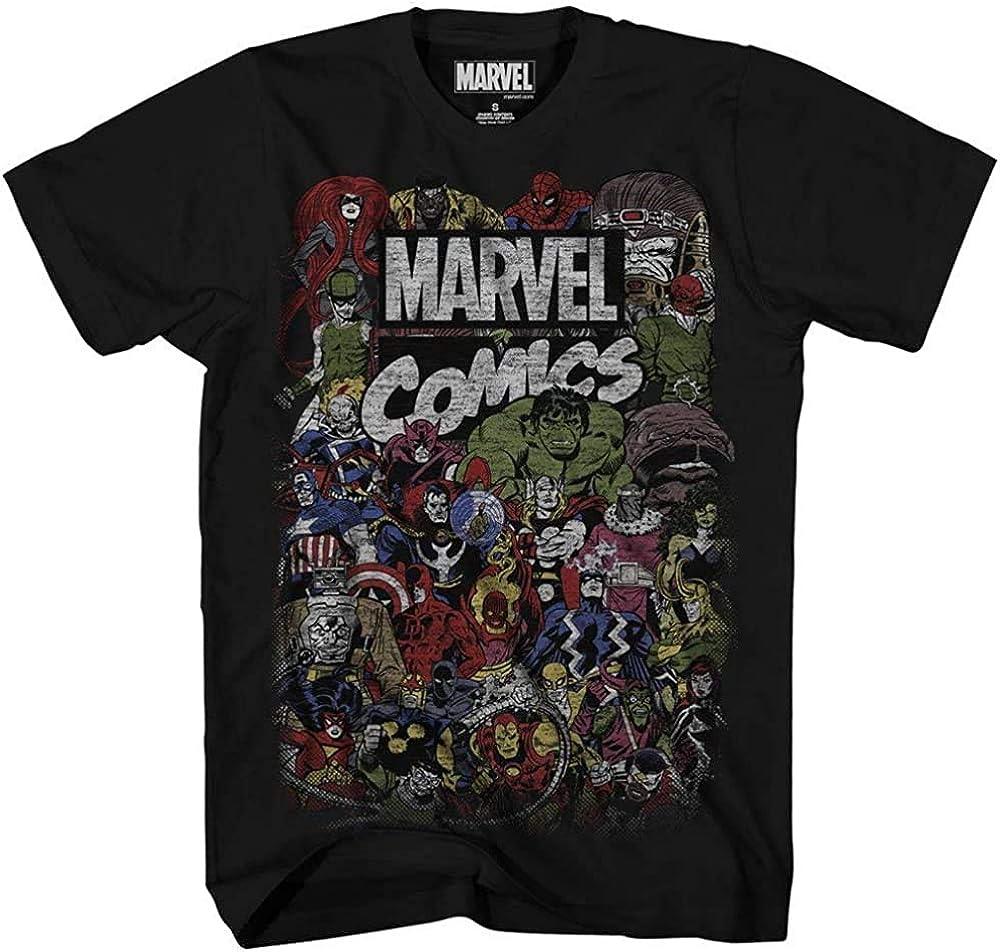 Marvel Men's Avengers Comics Crew T-Shirt