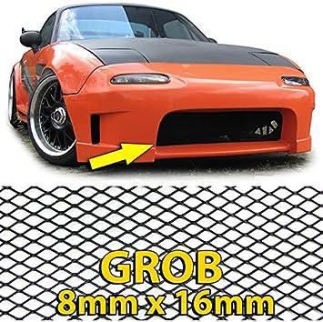 Carparts-Online 26430 Alu Gitter Renngitter Wabengitter Racegitter 130X30cm schwarz grob