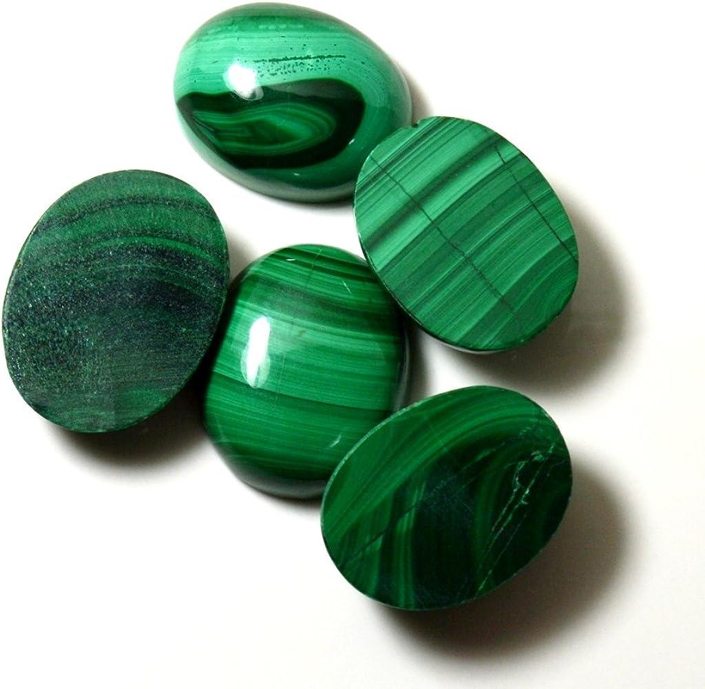 CaratYogi Naturel rond Malachite Pierre pr/écieuse 6,5/carats v/éritable Courroie pour la confection de bijoux de qualit/é AAA