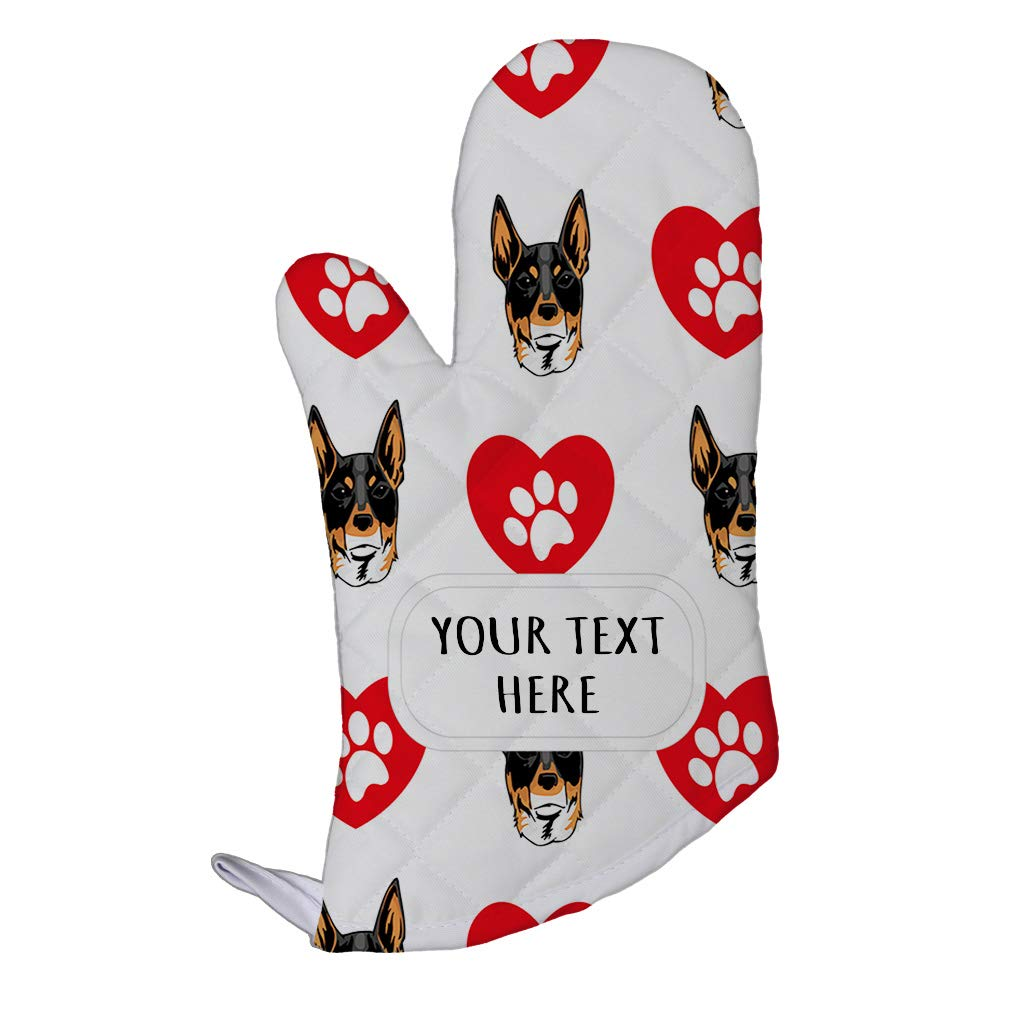 Style In Print Polyester Oven Mitt Custom Chilean Fox Terrier Dog Pattern A Adults Kitchen Mittens