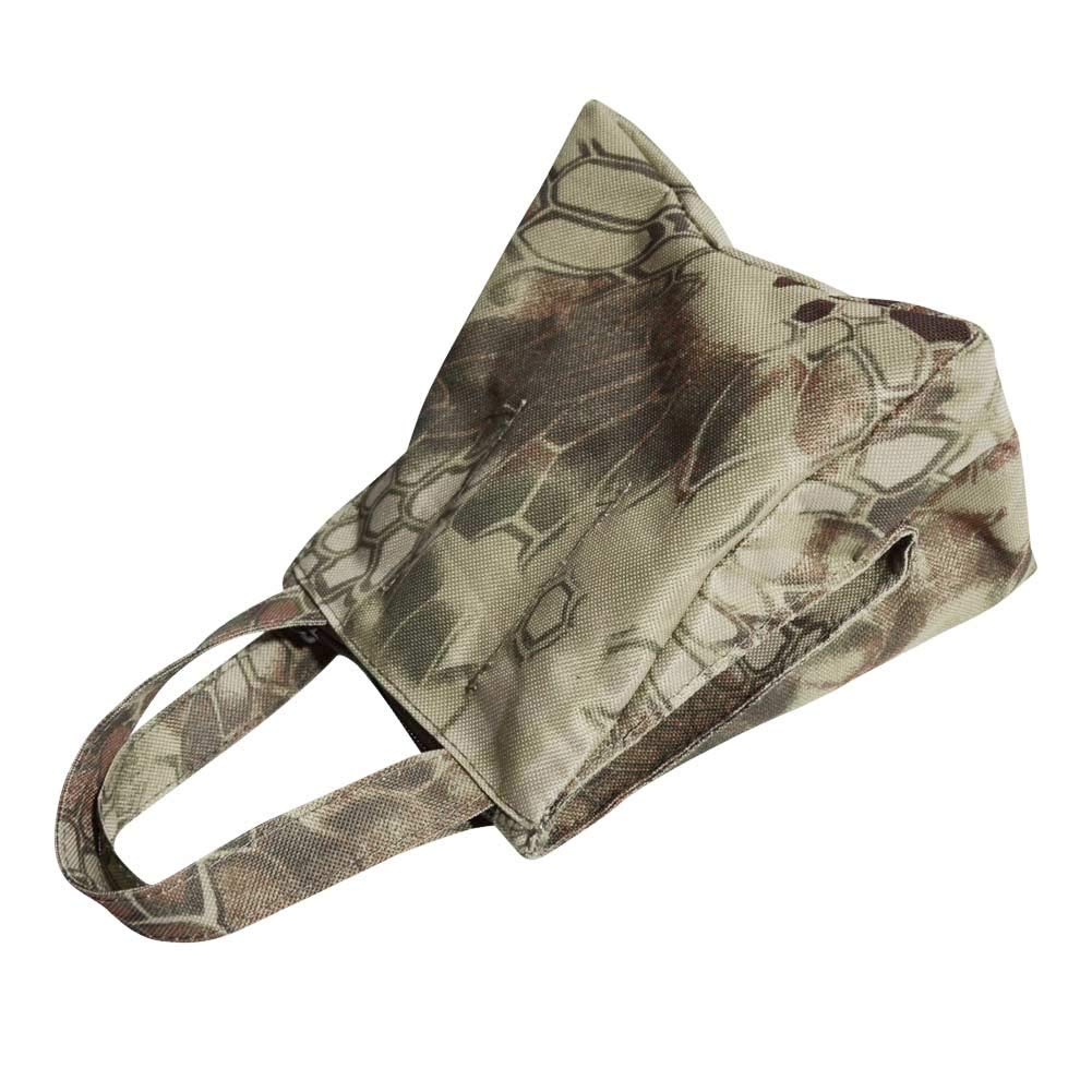 Unfilled DETECH Camouflage Shooting Front and Rear SandBag Stand Holders Rifle Target Rest Bag Bean Bag