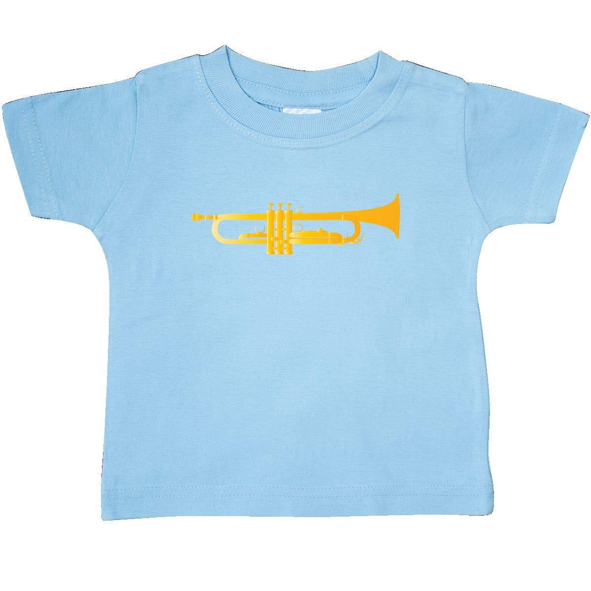 inktastic Trumpet Gold Brass Music Instrument Baby T-Shirt
