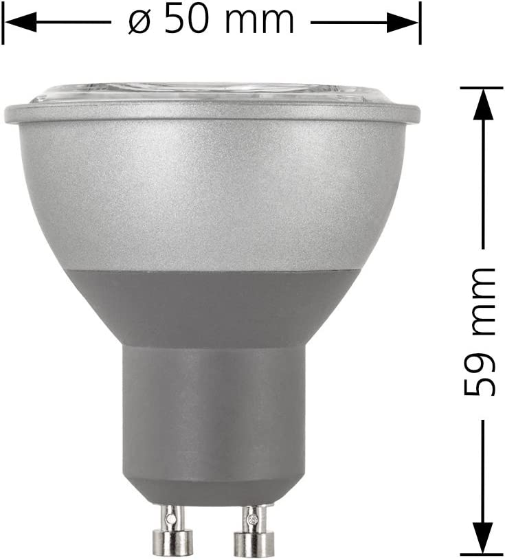 3000K 10er Set Ledox Led Bad Einbaustrahler Set IP44 dimmbar inkl 550 Lumen ersetzt 50 Watt Halogen Forma Aqua RW Einbaurahmen 230V 7W GU10 warmwei/ß mit 60/° Abstrahlwinkel