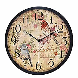 Gk Sepia Digital Wall Clock Continental Modern Living Room Bedroom Home Decor Clock